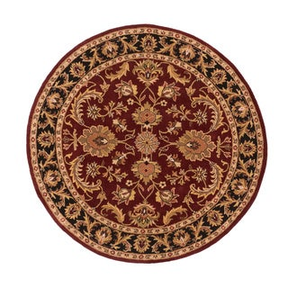 Hand-Tufted Ollie Traditional Border Rug (3'6 Round)