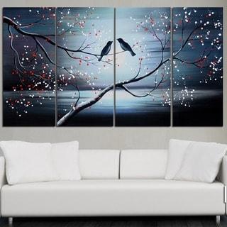 Design Art Bird Painting- 4 Piece
