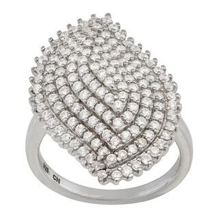 Gioelli Sterling Silver Designer Cubic Zirconia Ring