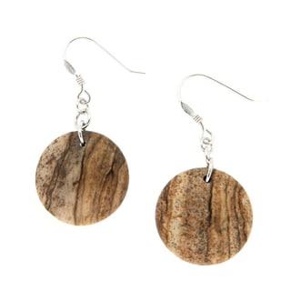 Pearlz Ocean Brown Jasper Earrings