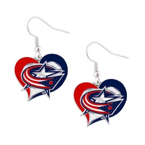NHL Swirl Heart Earring Dangle Logo Charm