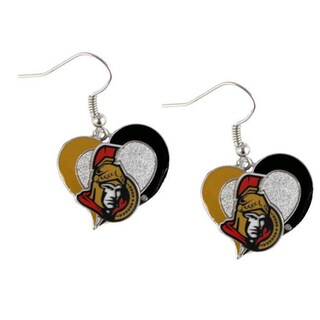 NHL Swirl Heart Earring Dangle Logo Charm (More options available)