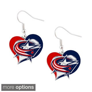 NHL Swirl Heart Earring Dangle Logo Charm