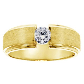 14k Yellow Gold Men's 1/3ct TDW Diamond Channel Set Ring (G-H, SI1-SI2)