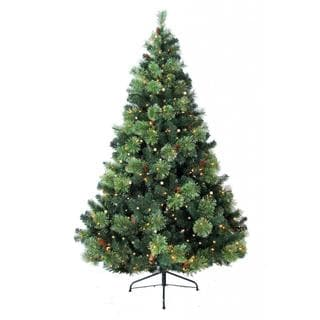 6-foot Prelit Artificial Charlotte Pine Tree with 400 Clear Lights and Metal Stand