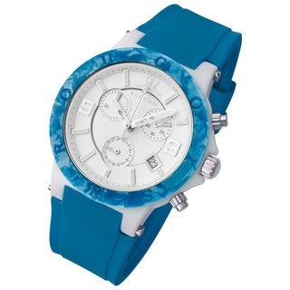 Rougois Women's Pop Series Chronograph Blue Silicone Strap Watch