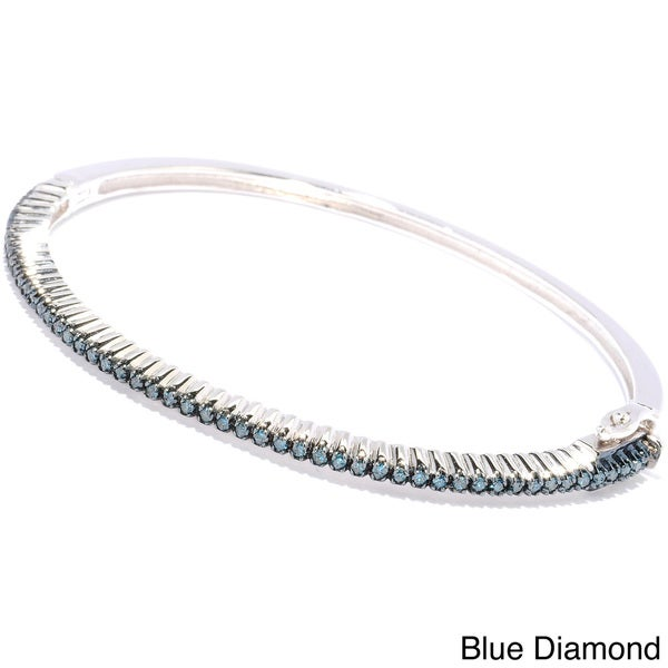bracelet diamond blue product white tdw silver stackable brown jewelry color sterling bangles watches yellow or bangle