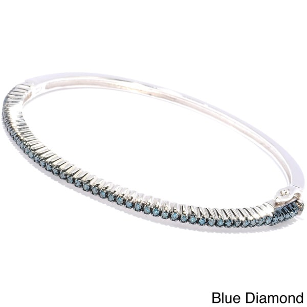 diamond bracelet bengal in unshaped gms ct silver products bangles blue bangle inches