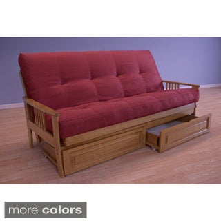Christopher Knight Home Capri Butternut Suede Futon with Storage Drawers