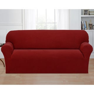 Basketweave Stretch Sofa Slipcover