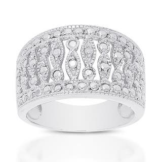 Finesque Sterling Silver Diamond Accent Ring|https://ak1.ostkcdn.com/images/products/9596628/P16782641.jpg?impolicy=medium