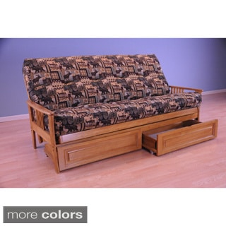 Christopher Knight Home Capri Butternut Futon with Mattress and Storage Drawers