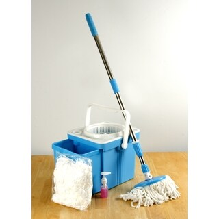 Compact Folding Mop Bucket System Spin Mop