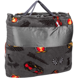 OC Daisy Racecar Napbag Travel Blanket and Pillow Set