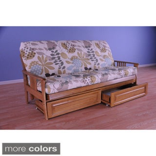 christopher knight home capri butternut storage drawer futon cream futons for less   overstock    rh   overstock