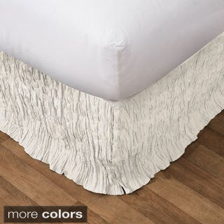 Lush Decor Crinkle Bedskirt