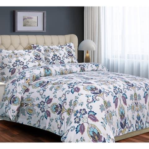 Paisley Flannel Luxury 3-piece Duvet Cover Set - Multi-color