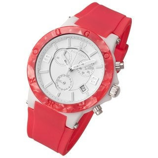 Rougois Women's Pop Series Chronograph Pink Silicone Strap Watch
