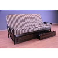 Christopher Knight Home Capri Espresso/ Cozumel Navy Mattress/ Storage Drawers Futon