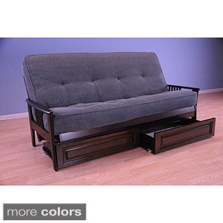 Christopher Knight Home Capri Espresso/ Marmont Thunder Mattress/ Storage Drawers Futon