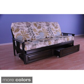 Christopher Knight Home Capri Espresso Storage Drawer Futon Frame with Mattress