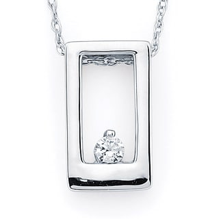 Boston Bay Diamonds 14k White Gold Women's Diamond Accent Pendant