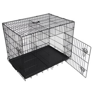 Folding Double-door Metal Dog Crate