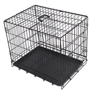 Folding Metal Dog Crate with Divider