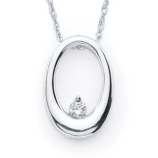 Boston Bay Diamonds 14k White Gold Diamond Accent Pendant