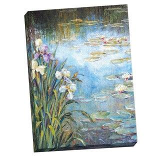 Portfolio Canvas Decor 'Iris & Lily Pads I' Large Printed Canvas Wall Art