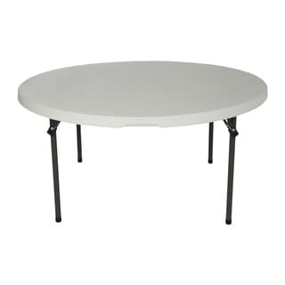 Lifetime 60-inch White Granite Round Commercial Folding Table (Set of 4)