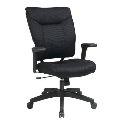 Space 37 Black Thick Padded Mesh Back Ergonomic Executive Office Chair