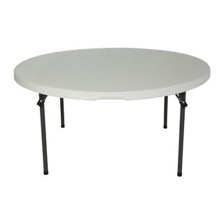 Lifetime 60-inch Almond Round Commercial Folding Table (Set of 4)