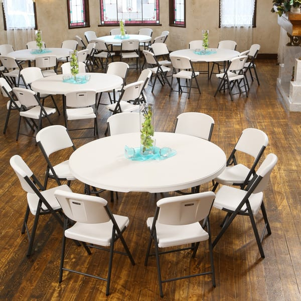 Shop Lifetime 60 Inch Almond Round Commercial Folding Table