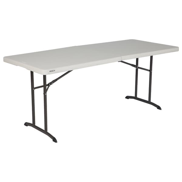 Lifetime 6 Foot Almond Commercial Fold In Half Table