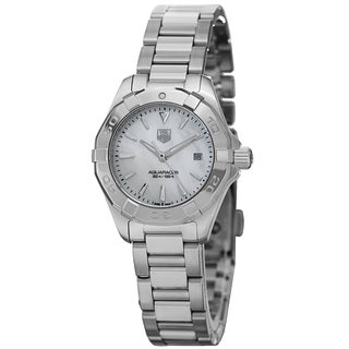 Tag Heuer Women's WAY1412.BA0920 '300 Aquaracer' Mother of Pearl Dial Stainless Steel Quartz Watch