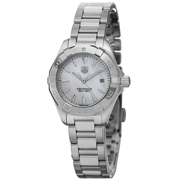 Shop Tag Heuer Women s  300 Aquaracer  Mother of Pearl Dial ... 399509b8290