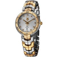 Tag Heuer Women's WAT2350.BB0957 'Link' Silver Dial Two Tone Automatic Watch