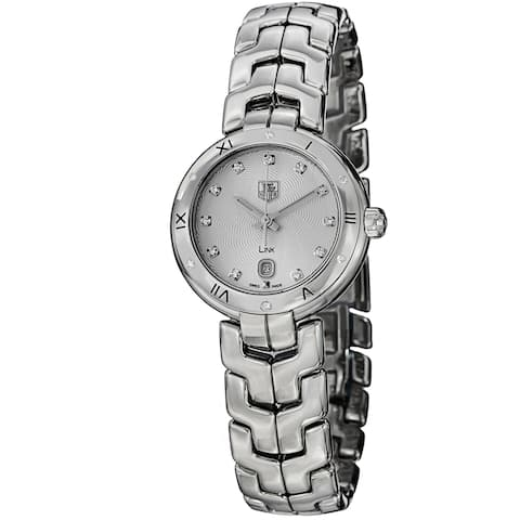 Tag Heuer Women's WAT1413.BA0954 'Link' Silver Dial Stainless Steel Diamond Swiss Quartz Watch