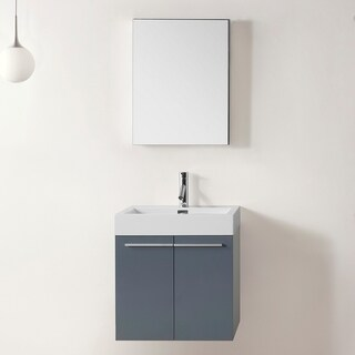 Virtu USA Midori 24-inch Grey Single Sink Bathroom Vanity