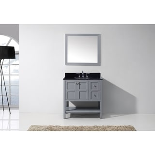 Virtu USA Midori 36-inch Grey Single Sink Bathroom Vanity
