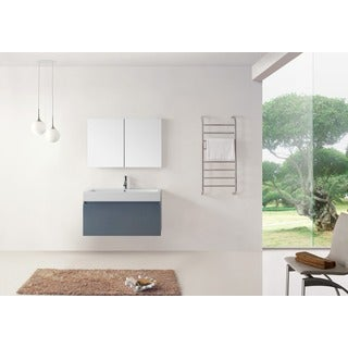 Virtu USA Zuri 39-inch Grey Single Sink Bathroom Vanity