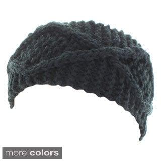 Kate Marie 'Maya' Handcrafted X-Pattern Rib Beanie Headband