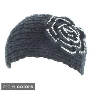 Kate Marie 'Alexis' Rhinestone Floral Knit Headband|https://ak1.ostkcdn.com/images/products/9597151/P16781732.jpg?impolicy=medium