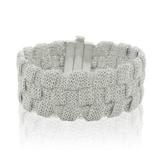 Gioelli Sterling Silver Italian Braided Mesh Bracelet