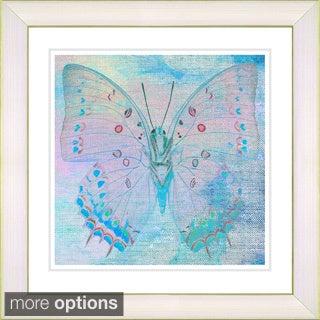 Zhee Singer 'Pastel Butterfly' Framed Fine Art Print