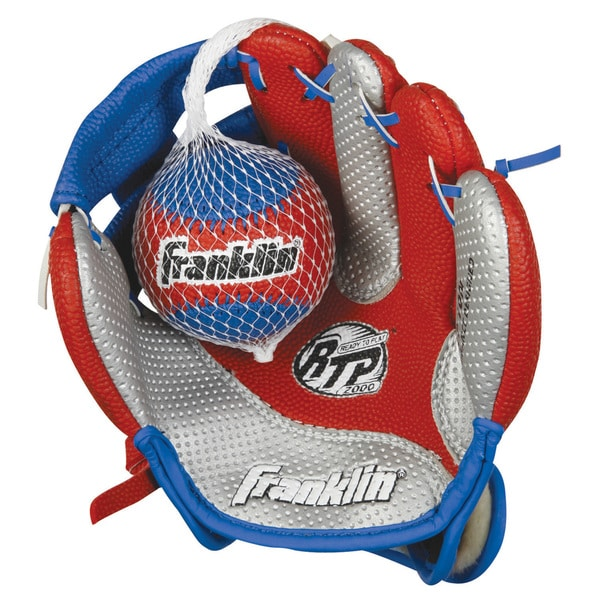Franklin Sports Air Tech 9-inch Baseball Glove for Right Handed Thrower with Ball