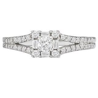 Avanti 14k White Gold 1/2ct TDW White Diamond Engagement Ring