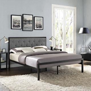 Amisco Attic Dark Brown 60 Inch Queen Size Metal Bed