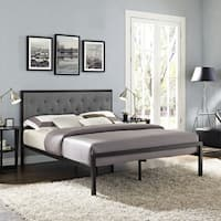 Mia Queen Fabric Platform Bed